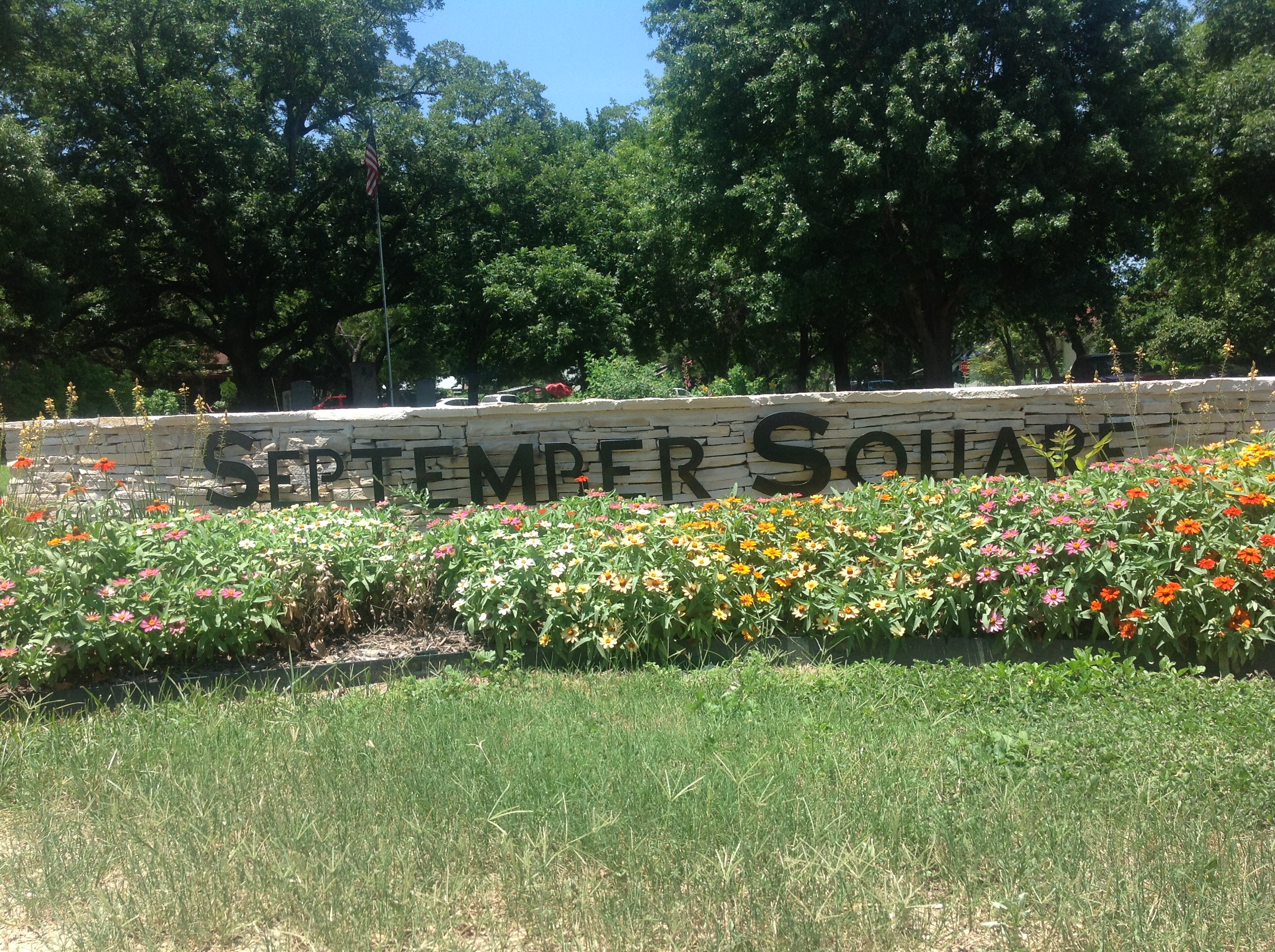 September Square entrance sign