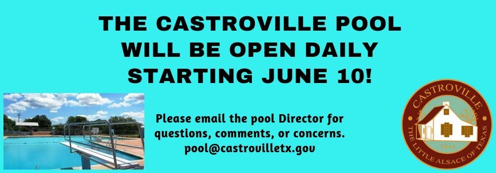 Pool Opening Announcement